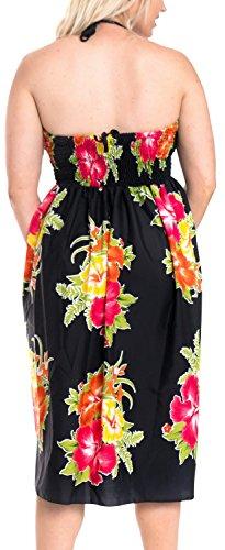 Aloha de Maxi de Mujer Vestido Ropa Halter de Encubrir Rojo Midi la Vestido Tubo Falda de r679 Tirantes Playa Superior para baño Traje wtawqYr
