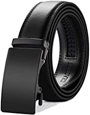 CHAOREN Mens Belt, Ratchet Leather Dress Belt for Men Adjustable with Slide Automatic Buckle, Trim to Exact Fi