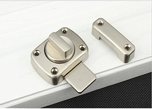 Antrader Bolt Latch Home Hotel Office Rotate Anti-Corrosion Safety Door Lock Brushed Finish by Antrader (Image #1)