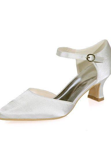 ShangYi Schuh Damen - Hochzeitsschuhe - Quadratische Zehe - High Heels - Hochzeit / Party & Festivität -Schwarz / Blau / Lila / Rot / Elfenbein / Weiß , 2in-2 3/4in-silver