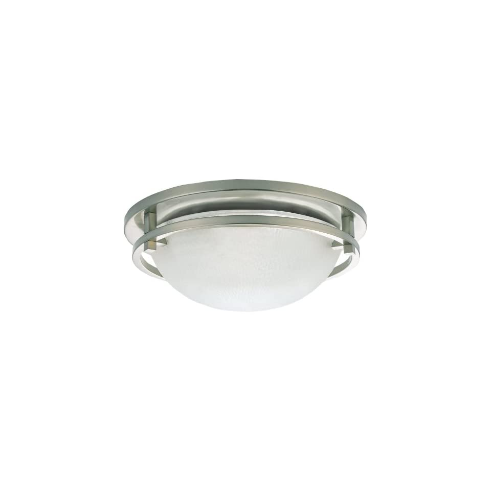 Sea Gull Lighting 75114 962 Eternity Close to Ceiling Fixture, Clear Highlighted Satin Etched Glass and Brushed Nickel, 2 Light