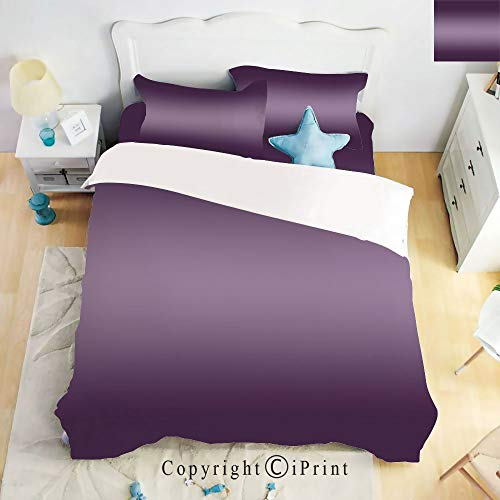 - Homenon Luxury 4-Piece Bed Sheet,Hide Zipper Closure,Hollywood Theater Inspired Digital Purple Colored Modern Design Room Decorations Artwork,Purple,King Size