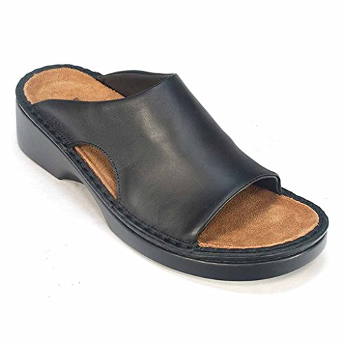 Naot Women's Rome Wedge Sandal, Black, 39 EU/8 M US (Naot Shoes Sandals)