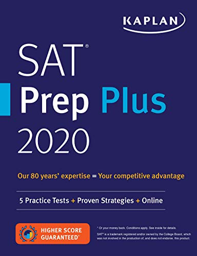 SAT Prep Plus 2020: 5 Practice Tests + Proven Strategies + Online (Kaplan Test Prep)