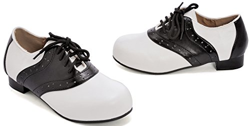 (Kid's Black and White Saddle Shoes)