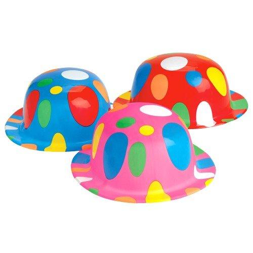 Polka Dot Circus Costume (Polka Dot Derbies (1 Dozen) - Bulk)