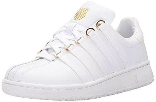 K-Swiss Women's Classic VN 50th Athletic Shoe, White/Gold, 11 M US