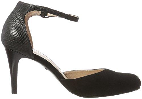 Belmondo damen Pumps Tacón Punta Negro Zapatos Cerrada Con De Para nero Mujer wqw1drn5C
