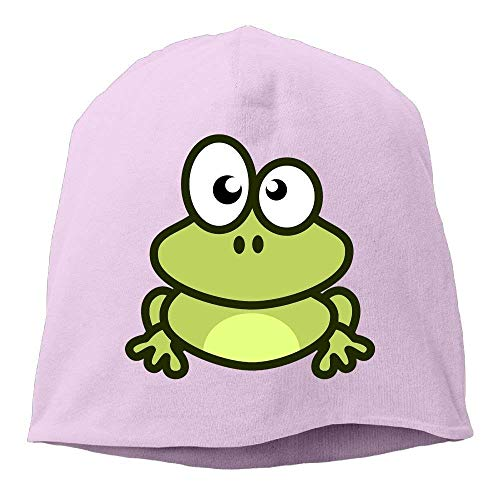 AUUOCC Headscarf Cute Green Frog Hip-Hop Knitted Hat for Mens Womens Fashion Beanie Cap