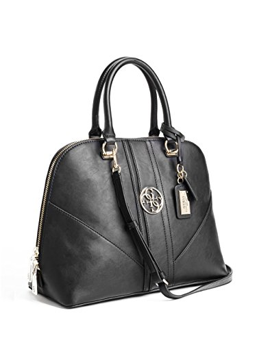 GUESS, Damen Handtaschen, Henkeltaschen, Umhängetaschen, Tote-Bags, Schwarz, 33,5 x 27,5 x 16,5 cm (B x H x T)