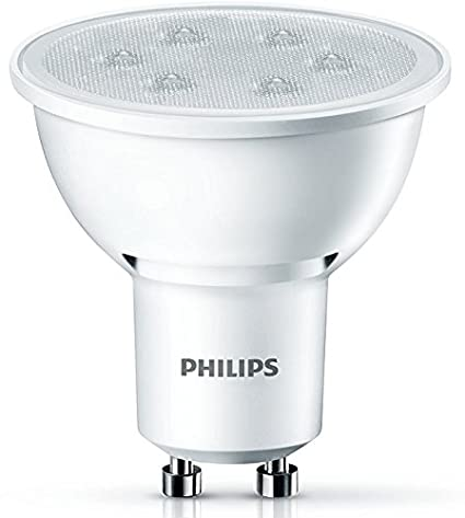 Philips Foco LED de luz cálida, 3,5 W/35 W, Casquillo GU10, 3.5 W, Blanco, Pack de 2: Amazon.es: Iluminación