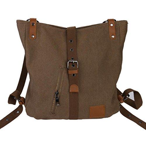 Vintage Bags Shopping Bag Canvas Backpack Messenger Bag Shoulder Bag School Bag Faionny (Coffee) by Faionny Bags