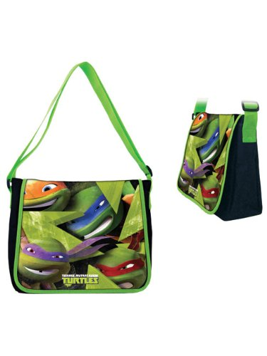 Teenage Mutant Ninja Turtles Borsa Messenger Teenage Mutant Ninja Turtles Messenger Bag,  nero �?nero, TUR17