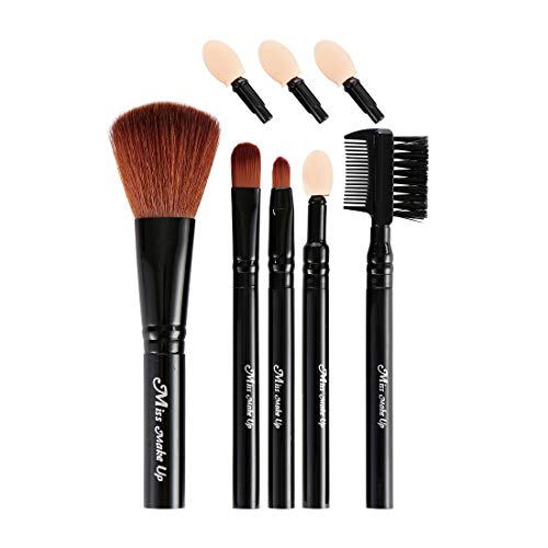 MINISO Skin Charm Makeup Brush 5-Piece Set(Includes Spare Eyeshadow Tip)