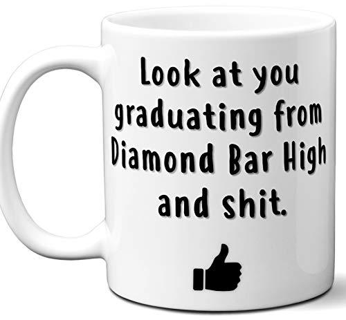 Diamond Bar High Graduation Gift. Cocoa, Coffee Mug Cup. Student High School Grad Idea Teen Graduates Boys Girls Him Her Class. Funny Congratulations. 11 oz. ()