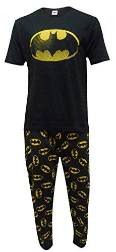e35fefe5f DC Comics Hombres Batman Logo Set de Pijama de Dos Piezas - Pequeño   Amazon.es  Ropa y accesorios