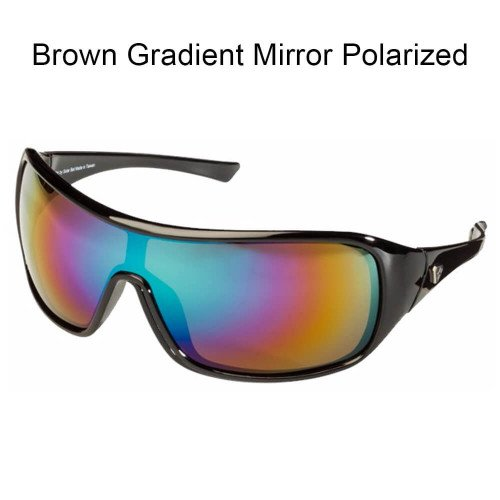 - SolarBat - Tim Horton (Black, Brown Gradient Mirror Polarized)