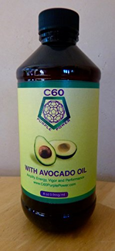C60 Purple Power in AVOCADO OIL 8oz - 237 ml, 0.9 mg/ml C60 99.95% Purity by C60 Purple Power