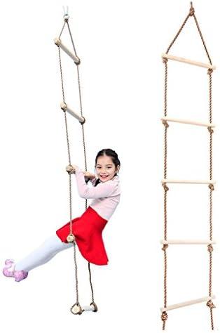 F Fityle Gartenspielzeug für Drinnen und Draußen - Kletterleiter + Tellerschaukel für Kinder ab 5 Jahre Alt, Blau