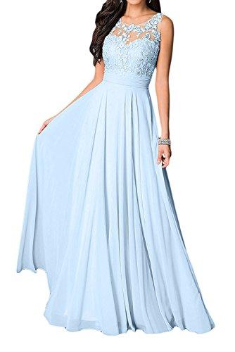 Ausschnitt Brautmutter U Blau Jugendweihe Braut Langes Kleider Spitze Marie Himmel Fuchsia La Damen Kleider Abendkleider mit AqXxn8