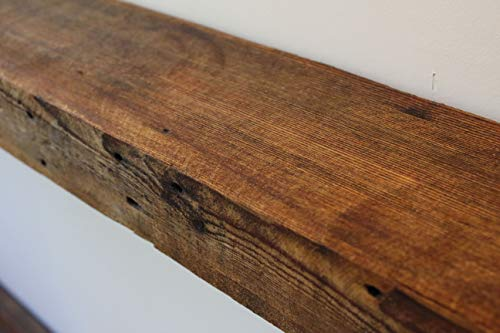 dark wood fireplace mantel - 3