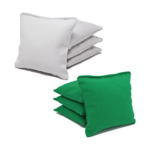 Free Donkey Sports ACA Regulation Cornhole Bags (Set of 8) (White and Kelly Green) 25+ Colors to Choose from. - Green Sport Bag