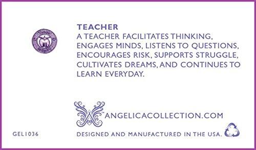 "Non-antique 1Blanc Finition laiton ""Apple; Teach, Inspire"" Teacher Professor Angelica Bracelet"