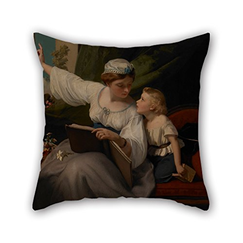 Pillow Shams 16 X 16 Inches / 40 By 40 Cm(each Side) Nice Choice For Girls,club,dinning Room,husband,valentine,sofa Oil Painting James Sant - The Fairy (Wild Animals Sham)