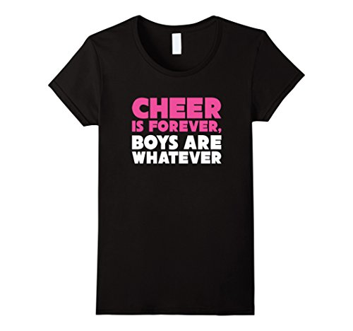 Womens Cheer is Forever Funny Cheerleader T-shirt Medium Black ()