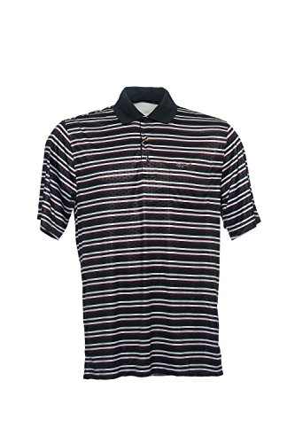 Greg Norman Black Horizontal Striped Polo Shirt Golf , Size - Norman Polo Striped Greg Shirt