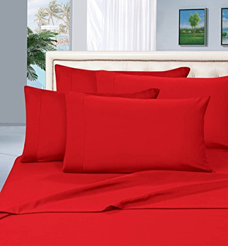 Best Seller Luxurious Pillowcases on Amazon! Elegant Comfort 1500 Thread Count Wrinkle,Fade and Stain Resistant 2-Piece Pillowcases- HypoAllergenic, King Size - Red