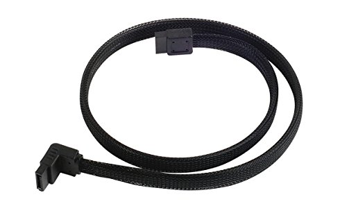 (Silverstone Tek 90 Degree SATA III Cable with Non-Scratch Locking Mechanism (CP08))