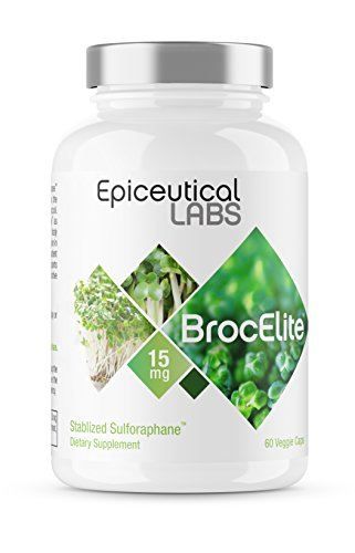 BrocElite | The Only Stabilized Sulforaphane for Inflammation, Immune Support, Detoxification, Antioxidant, and Mental Clarity | Broccoli Seed Extract | 60 Capsules One Month's Supply