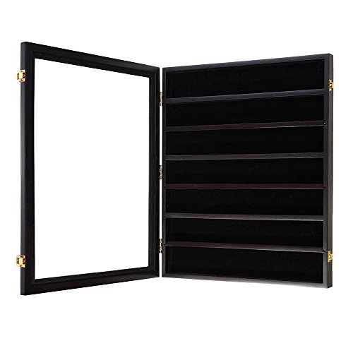 Display Wood Case Shadow Box Cabinet Frame for brooch Decoration for Bravery by L-PH HOME