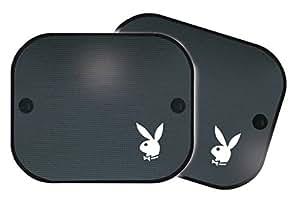 Playboy PB-SAA-010 S- Parasoles para ventanillas de coche, color negro