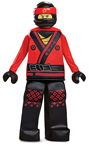Kai Ninjago Halloween Costume (Disguise Kai Lego Ninjago Movie Prestige Costume, Red, Small)
