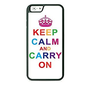 Case Fun Case Fun Mulitcoloured Keep Calm and Carry On TPU Rubber Back Case Cover for Apple iPhone 6 4.7 inch