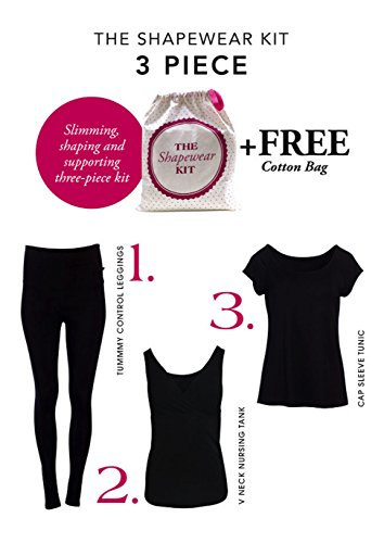 Angel Maternity Shapewear Kit: 3-piece Shapewear for woman kit + Helps achieve that postpartum flat stomach - M by Angel Maternity