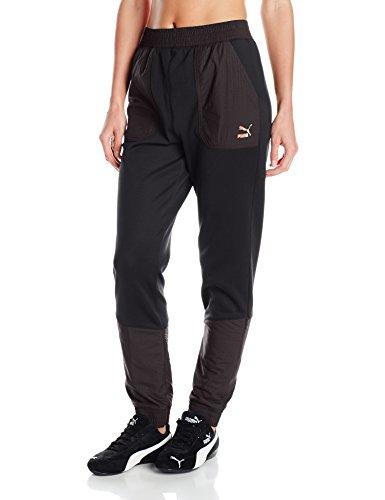 PUMA Women's Evo Embossed Utility Pants, Black, X-Small ()