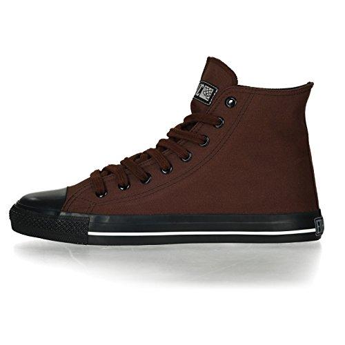 Ethletic Sneaker Vegan Hicut Collection 17 - Farbe Nut Brown/Jet Black Aus Bio-Baumwolle