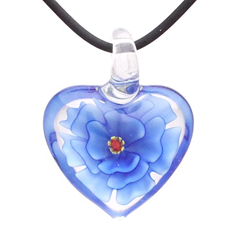 bleek2sheek-murano-inspired-glass-royal-blue-and-clear-carnation-heart-pendant-necklace