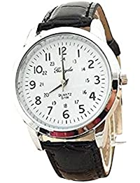 Clearance! Charberry Mens Simple Watch Elegant Analog Luxury Sports Leather Strap Quartz Watch (A)