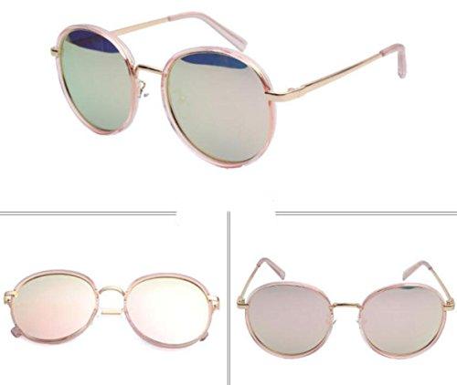 Marco Rosa Metal Del Playa Gafas Sol Gafas De Para Redondas Libre Viaje Al De La De Mujer Del Del Sol Aire pIXwqRYwx