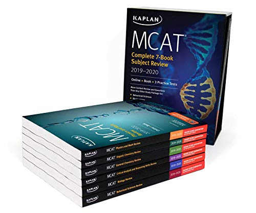 (MCAT Complete 7-Book Subject Review 2019-2020: Online + Book + 3 Practice Tests (Kaplan Test Prep))