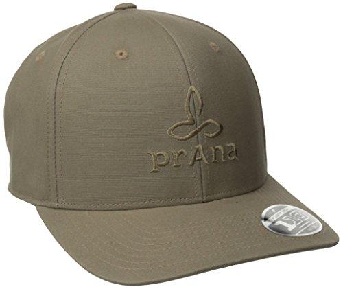 prAna Living Prana Logo Ball Cap, Dark Khaki, One Size Khaki Logo Cap