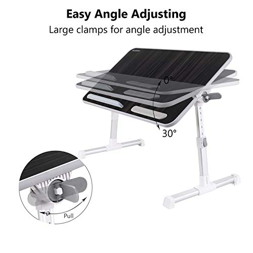 Callas Adjustable Portable Laptop Table, Bed Table, Notebook Stand, Laptop Standing Desk, Portable Standing Table with Foldable Legs, Foldable Lap Tablet Table for Sofa Couch Floor (CA6-Black)
