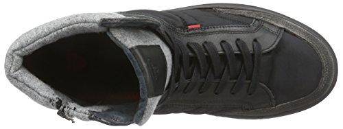 Strellson New Connor High Lace I - zapatillas deportivas altas de piel hombre negro - negro (black 900)