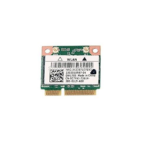 C3Y4J - WiFi Card Qualcomm Atheros QCWB335; DW1705 Mini PCI-E 802.11b/g/n; Bluetooth 4.0 Latitude (Qualcomm Atheros Model Qcwb335)