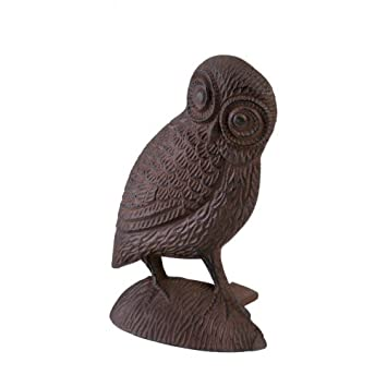 Koolekoo Owl Door Stopper   Cast Iron Door Stop
