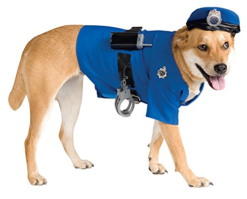 UHC Police Uniform Outfit Funny Theme Halloween Pet Dog Costume, XL (Funny Halloween Pet Costumes)